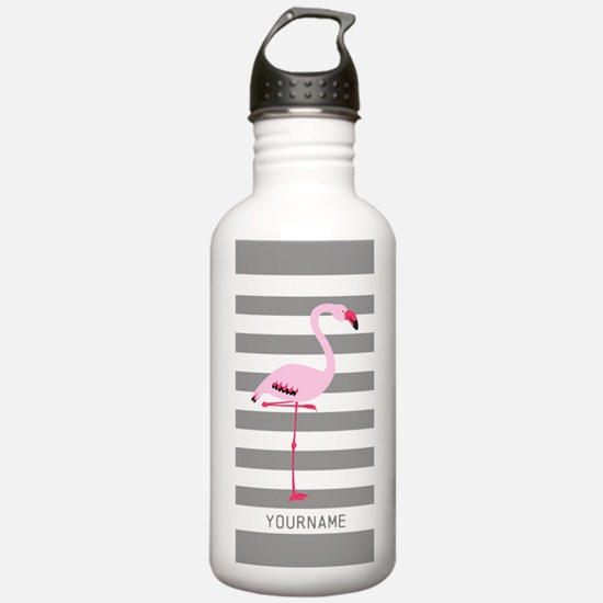 Monogrammed Stripes Fl Water Bottle