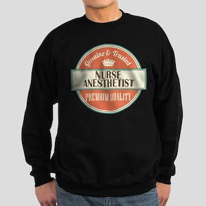 nurse anesthetist vintage logo Sweatshirt (dark)
