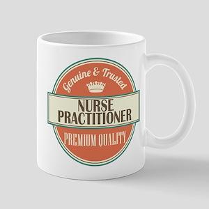 nurse practitioner vintage logo Mug