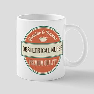 obstetrical nurse vintage logo Mug
