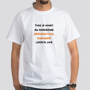awesome aeronautical White T-Shirt