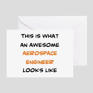 awesome aerospace Greeting Card