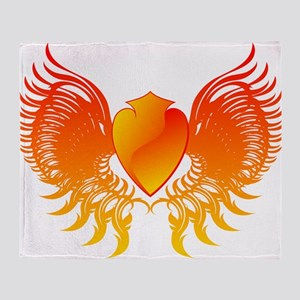 Flame hearth drawing 3d Throw Blanket
