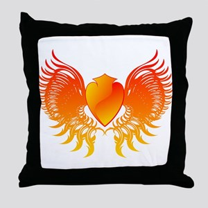Flame hearth drawing 3d Throw Pillow