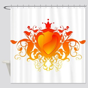 Flame hearth drawing 3d Shower Curtain