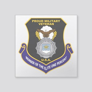 "USAF Security Forces Square Sticker 3"" x 3"""