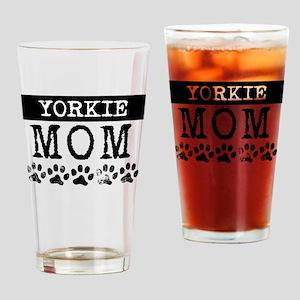 Yorkie Mom Drinking Glass