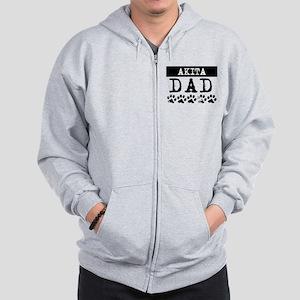 Akita Dad Zip Hoodie