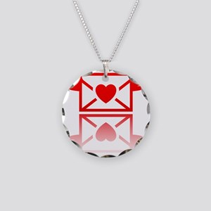 Love soul mirror pack Necklace Circle Charm