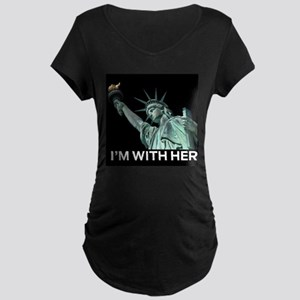 I'm With Her Maternity T-Shirt