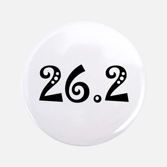 "Funny 26.2 3.5"" Button (100 pack)"