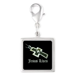 Jesus Lives (resized) Charms