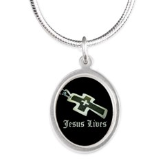 Jesus Lives (resized) Necklaces