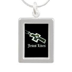 Jesus Lives (resized) Necklaces