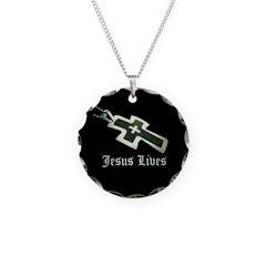 Jesus Lives (resized) Necklace