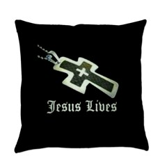 Jesus Lives (resized) Everyday Pillow