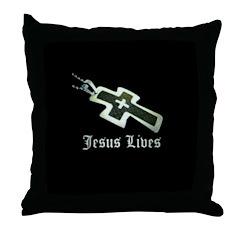 Jesus Lives (resized) Throw Pillow