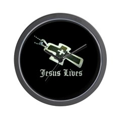 Jesus Lives (resized) Wall Clock