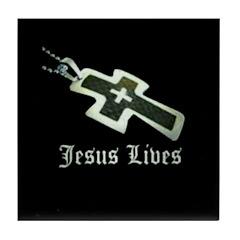 Jesus Lives (resized) Tile Coaster