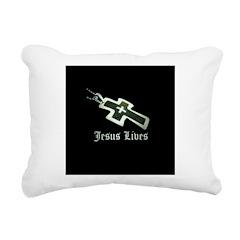 Jesus Lives (resized) Rectangular Canvas Pillow