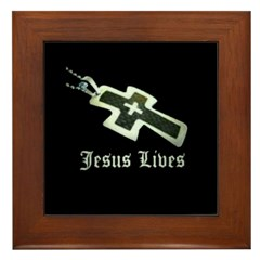 Jesus Lives (resized) Framed Tile