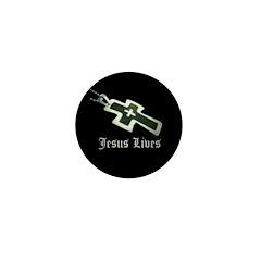 Jesus Lives (resized) Mini Button (100 pack)
