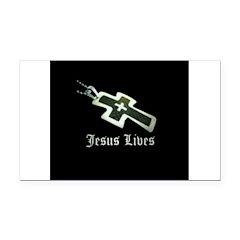 Jesus Lives (resized) Rectangle Car Magnet