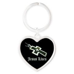Jesus Lives (resized) Keychains