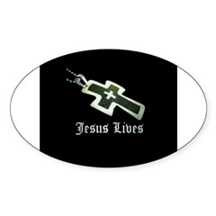 Jesus Lives (resized) Decal