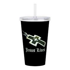 Jesus Lives (resized) Acrylic Double-wall Tumbler