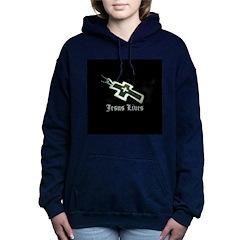 Jesus Lives (resized) Women's Hooded Sweatshirt