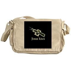 Jesus Lives (resized) Messenger Bag