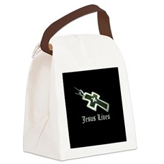 Jesus Lives (resized) Canvas Lunch Bag