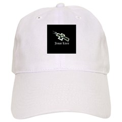 Jesus Lives (resized) Baseball Baseball Cap