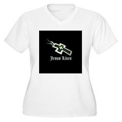 Jesus Lives (resized) Plus Size T-Shirt