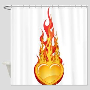 Burning hearth Shower Curtain