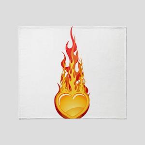 Burning hearth Throw Blanket
