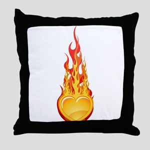 Burning hearth Throw Pillow