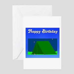 happy birthday camping look Greeting Card