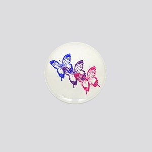 Bisexual Butterfly Mini Button