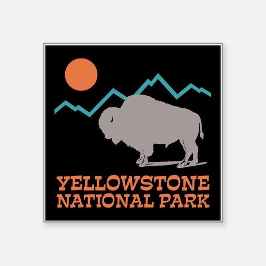 "Yellowstone National Park Square Sticker 3"" x 3"""