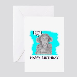happy birthday monkey look Greeting Card