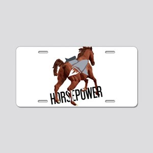 Horsepower Aluminum License Plate