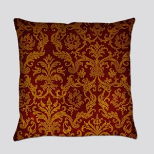 ROYAL RED AND GOLD Everyday Pillow