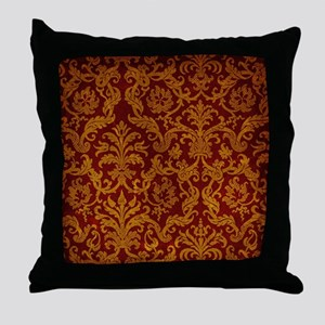 ROYAL RED AND GOLD Throw Pillow