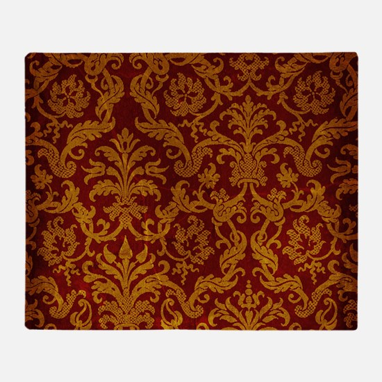 ROYAL RED AND GOLD Throw Blanket