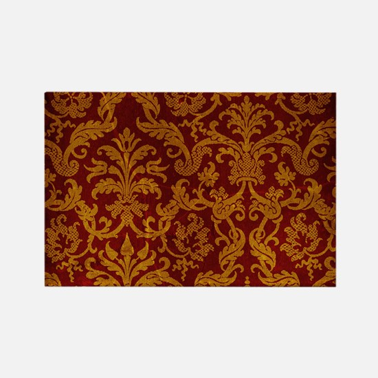 ROYAL RED AND GOLD Rectangle Magnet