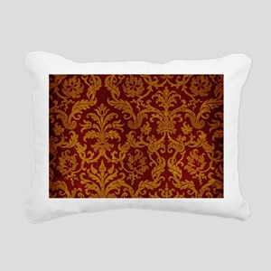 ROYAL RED AND GOLD Rectangular Canvas Pillow