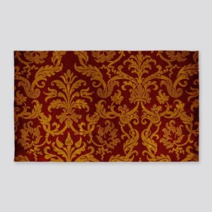 ROYAL RED AND GOLD Area Rug