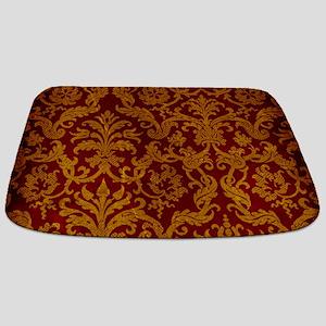 ROYAL RED AND GOLD Bathmat